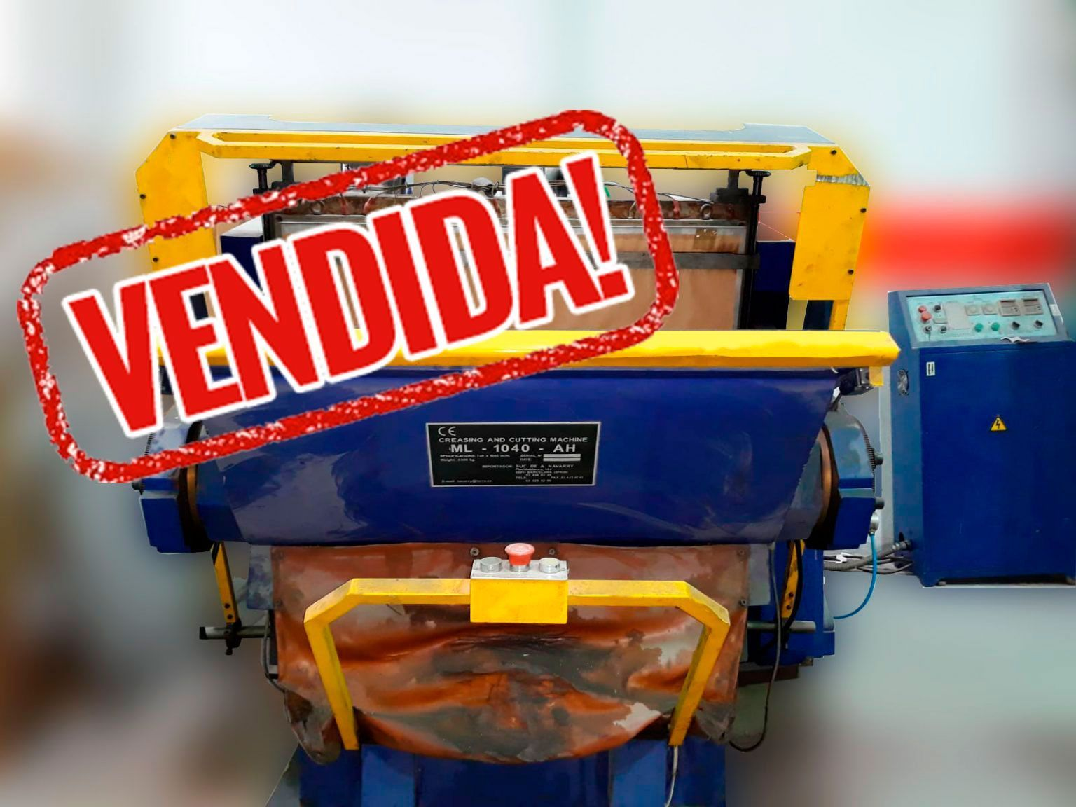 Troqueladora de tímpano 72×104 cm con placa calefactora de Ocasión